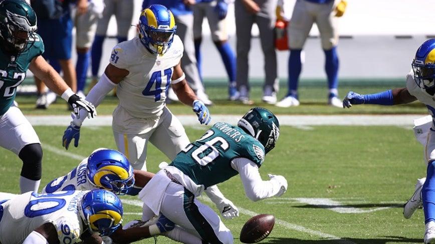 Goff tosses 3 TD passes to Higbee, Los Angeles Rams beat Philadelphia Eagles 37-19