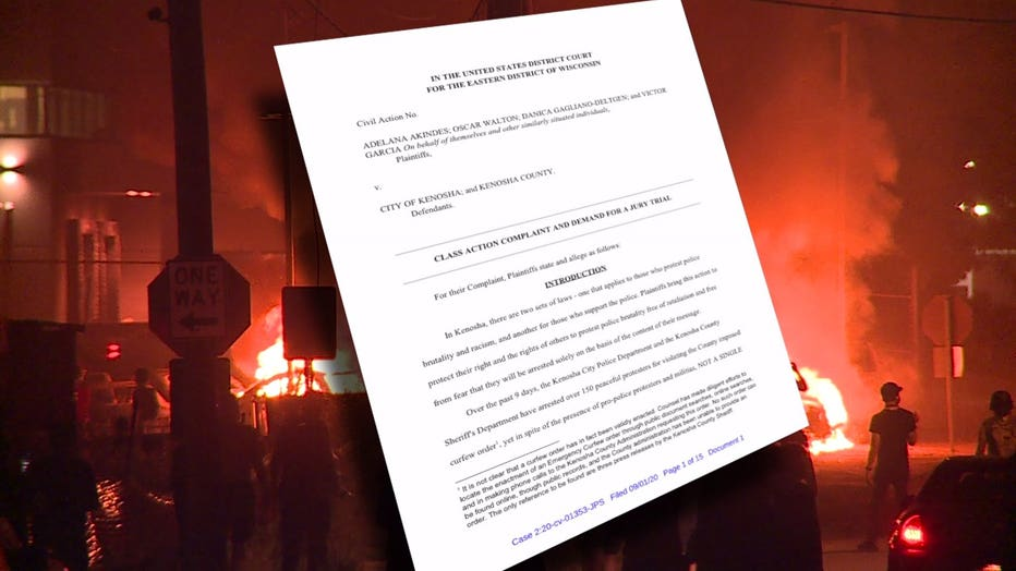 Protesters file lawsuit against Kenosha, Kenosha County