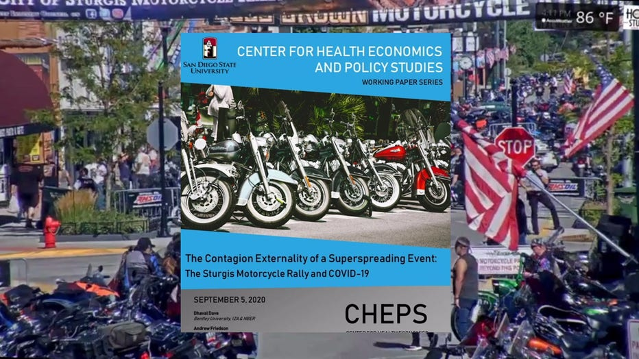 Report: 266K US COVID cases traced to Sturgis