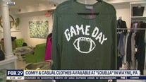 Louella shows off their comfy and casual clothes for game day