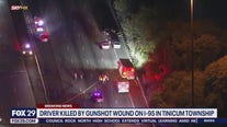 Police: Driver shot, killed on I-95 in Tinicum Township