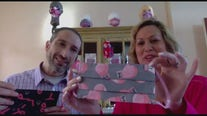 Local couple creates mask company and helps raise money for breast cancer awareness