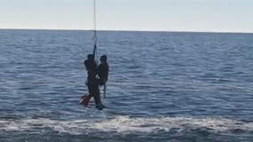 Man tangled in fishing line pulled from water in dramatic Sonoma coast rescue