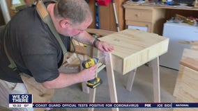 Camden County man makes desks for students learning at home