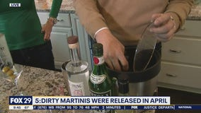 5:Dirty Martinis creates martinis you can drink out of the bottle