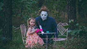 Halloween tea party of a different and spooky kind, courtesy of local photographer