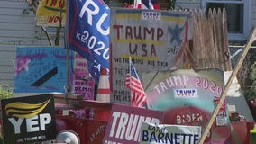 Dueling political displays cause divide on Hatboro street