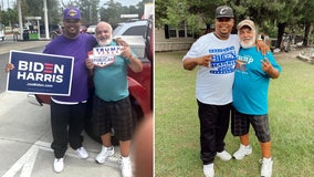 Longtime friends with different political views spread message of unity during contentious election season