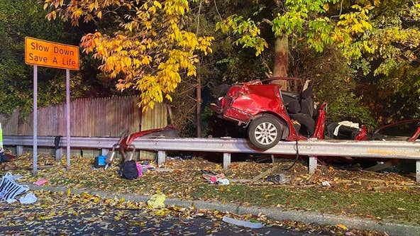Officials: 1 hospitalized, 2 hurt in car crash in Marple Township
