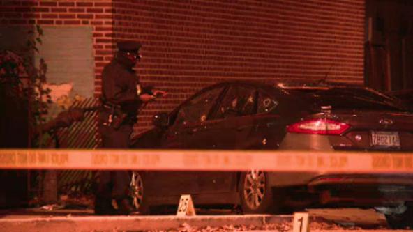 Police find abandoned crashed car peppered with bullet holes in South Philadelphia
