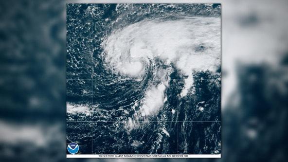 Hurricane Epsilon, the 10th storm of a busy Atlantic season, approaches Bermuda