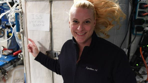 NASA astronaut Kate Rubins has cast her ballot from space