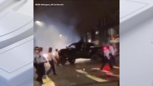 Driver in custody after striking Philadelphia police sergeant with pickup amid unrest Monday, sources say