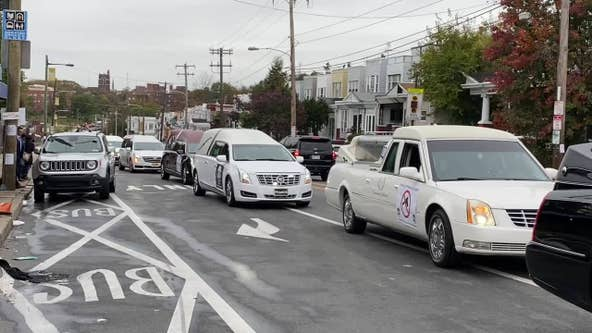 Hearse parade in Philadelphia calls attention to violence, opioid use, and the toll of coronavirus