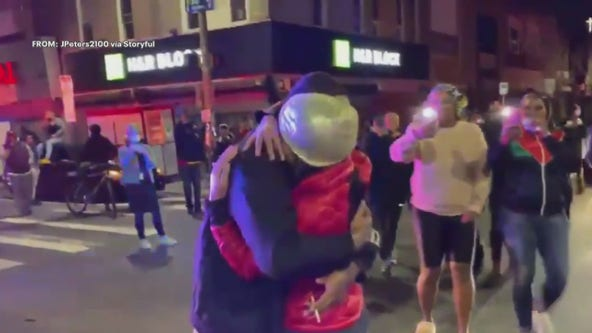 Couple gets engaged in middle of protests in West Philadelphia