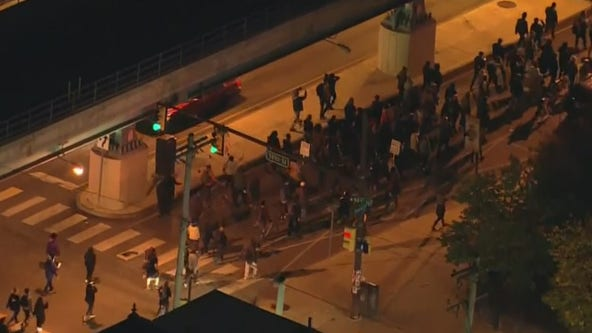 Hundreds of protesters march throughout Philadelphia following Walter Wallace Jr. shooting