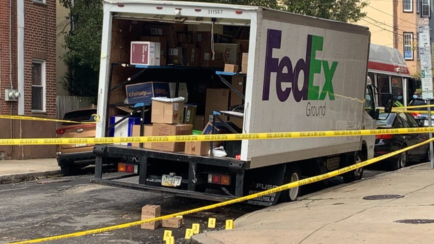 Police: FedEx driver shot in Queen Village, listed in critical condition