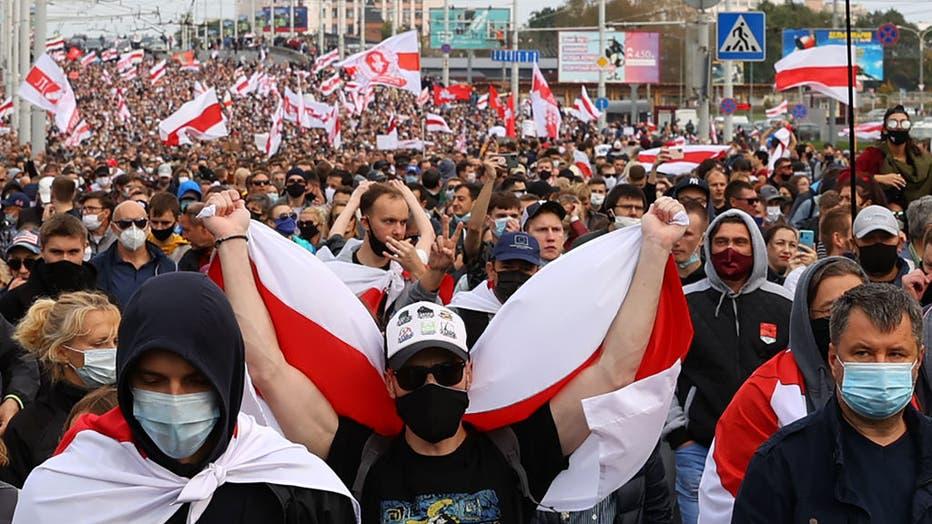 Situation in Minsk, Belarus