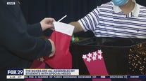 Bucks County Intermediate Unite stuffs stockings for soldiers