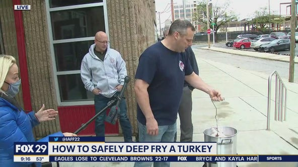 How to safely deep fry a turkey for Thanksgiving