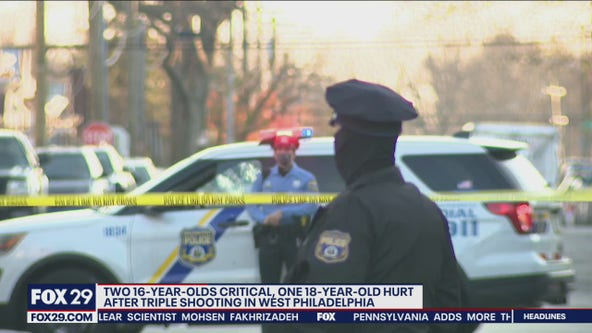 Police: 16-year-old critical following triple shooting in West Philadelphia