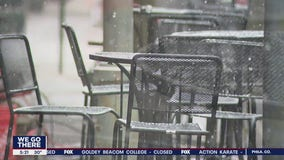 Snow falls in Montgomery County as restaurants continue to endure in the pandemic and weather