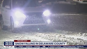 Nor'easter blows through Delaware County bringing snow and sleet in its wake