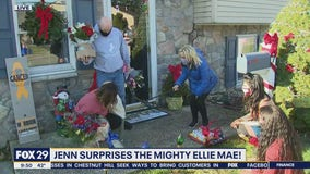 Jenn surprises the mighty Ellie Mae!