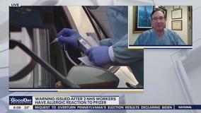 UK regulators issue allergy warning on Pfizer vaccine