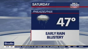 Weather Authority: Morning rain leads to cloudy, gusty Saturday