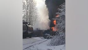 Crude oil fire out, investigation continues after train derailment in Whatcom County