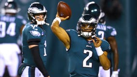 Pederson says he has yet to decide if Wentz or Hurts will start against Saints