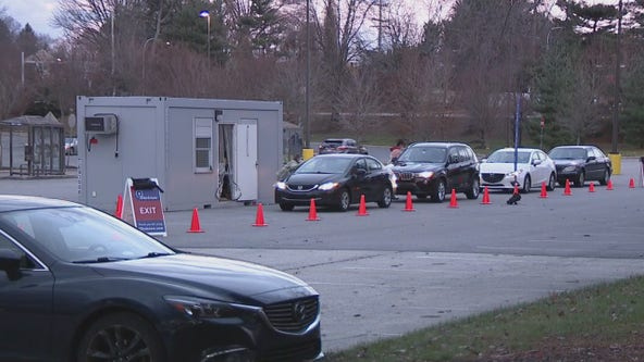 Delaware County residents flock to mobile drive-thru coronavirus testing site