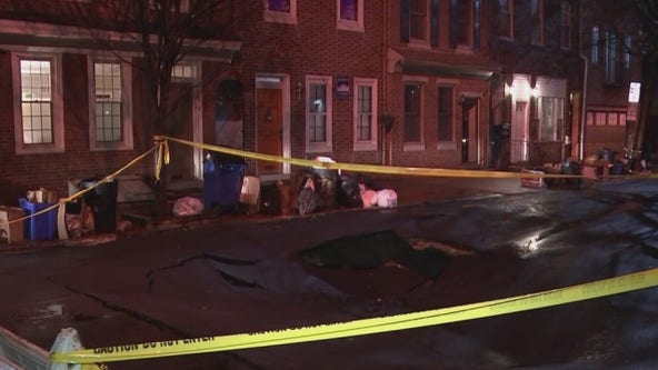 Massive sinkhole opens up in Queen Village