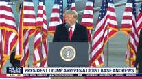 President Trump delivers final remarks from Joint Base Andrews