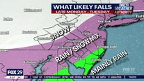 Weather Authority: Wintry mix heading for our area on Monday night