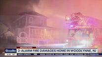 2-alarm fire damages home in Woodlynne, NJ