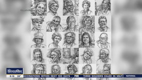 Local artist creates portraits of loved ones lost during the coronavirus pandemic