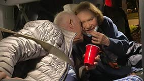 Former president Jimmy Carter shares New Year's kiss with wife Rosalynn