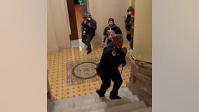 US Capitol Police officer hailed as hero for diverting pro-Trump mob during riot
