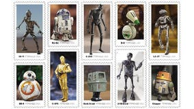 USPS unveils new stamps featuring droids from 'Star Wars' galaxy