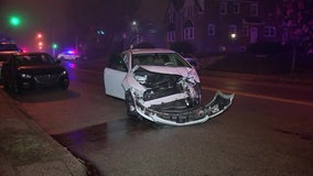 Philadelphia police officer recovering after crash in East Mount Airy
