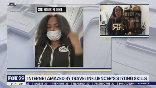 Travel curator goes viral for styling skills on a plane