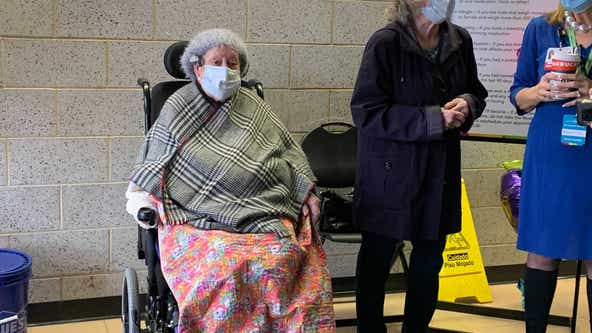 Amid fanfare, 101-year-old Camden County woman receives first dose of COVID-19 vaccine