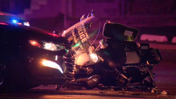 Police officer injured in crash in Northeast Philadelphia