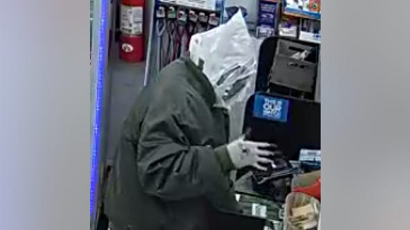 Police: Man wrapped in trash bags robs gas station in Bucks County