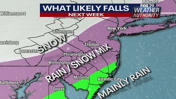 Weather Authority: Blustery, cold weekend ahead of wintry mix Monday into Tuesday
