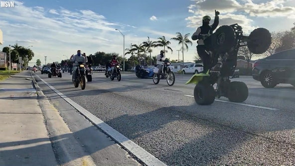 Riders on motorcycles, ATVs hit South Florida streets for 'Wheels Up, Guns Down' protests on MLK Day