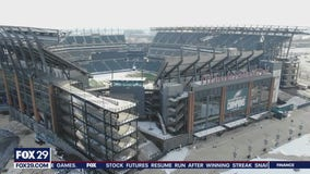 Local lawmakers gather at the Linc, call for Philly to use the stadium as mass vaccination site