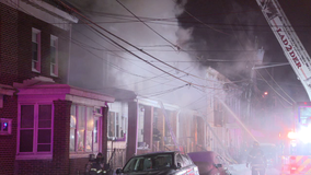 1 dead, 12 displaced after fire tears through rowhomes in Trenton